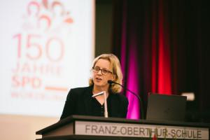 Unsere Vorsitzende der BayernSPD Natascha Kohnen gratulierte persönlich