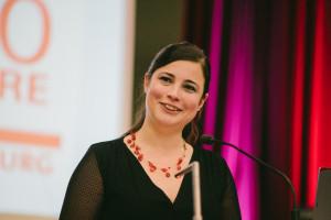 Unsere Vorsitzende Katharina Räth bei der Begrüßung
