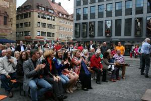 Interessiert verfolgten die Gäste den kommunal- und landespolitischen Austausch der beiden Oberbürgermeister Christian Ude und Georg Rosenthal.
