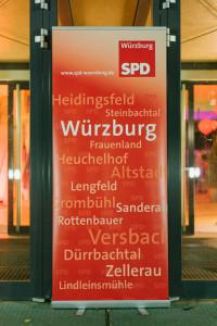 Eingangsaufsteller der Würzburg SPD