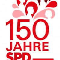 Jubiläumslogo der Würzburg SPD