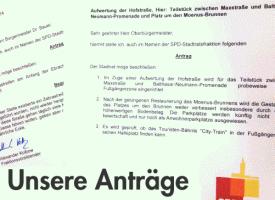Anträge und Anfragen unserer SPD-Stadtratsfraktion